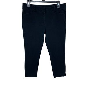 New York & Company Stretch Black Ankle/Crop Pants